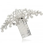 Clear-Rhinestone-Crystals-Wedding-Bride-Bridal-Floral-Hair-Comb-Head-Pieces-Hair-Pins-Jewelry-Accessories-COFA2944