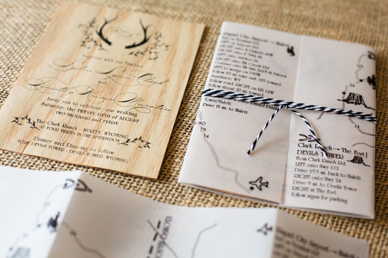 Rustic-Wooden-Wedding-Invitations-and-Map-Fourth-Year-Studio-5-Rings-Photography1
